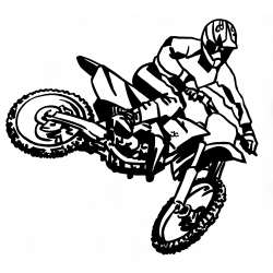 Moto cross en l'air