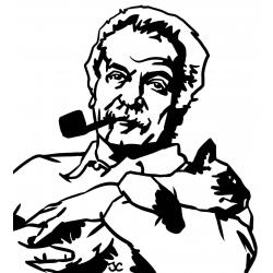 Georges Brassens avec son chat