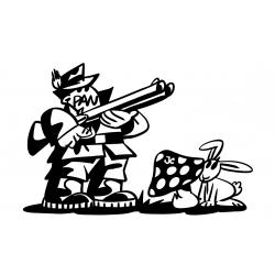 chasseur et lapin