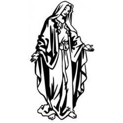 Vierge marie en pied