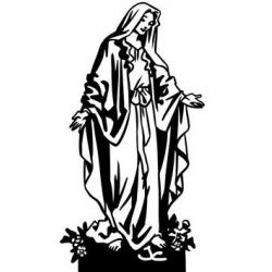 Vierge Marie version socle