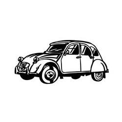 Citroën 2cv en métal.